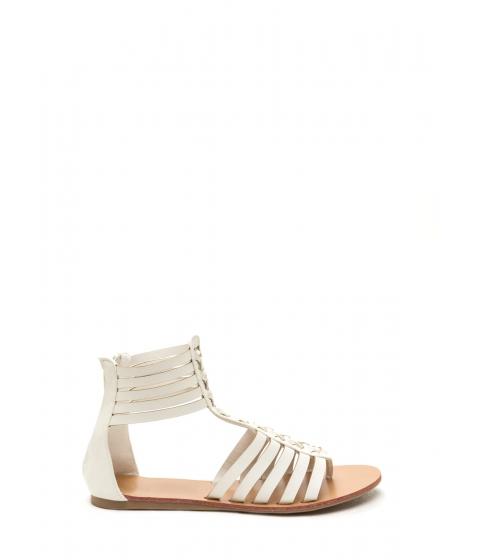 Incaltaminte Femei CheapChic Bob And Weave Strappy Sandals White
