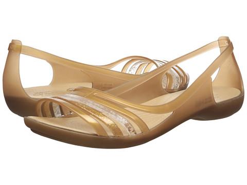 Incaltaminte Femei Crocs Isabella Huarache Flat Bronze