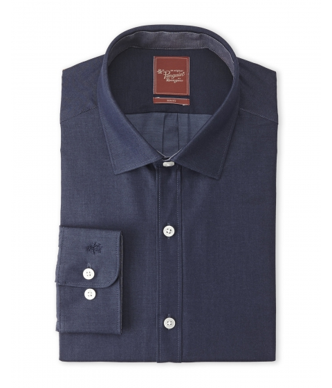 Imbracaminte Barbati Original Penguin Blue Slim Fit Dress Shirt Blue