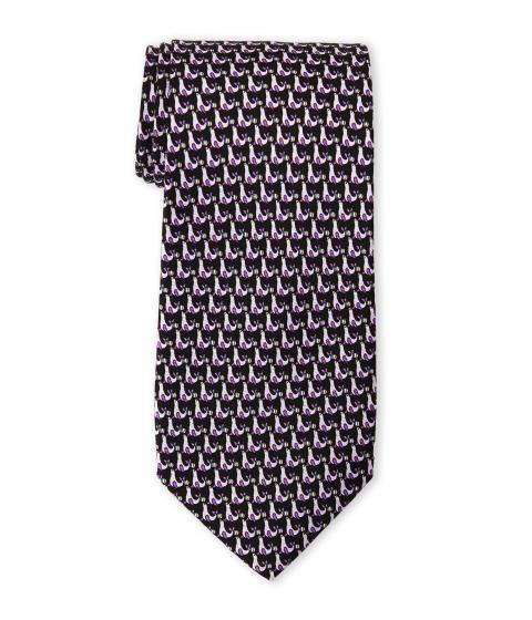 Accesorii Barbati Pierre Cardin Mini Seal Print Silk Tie Black