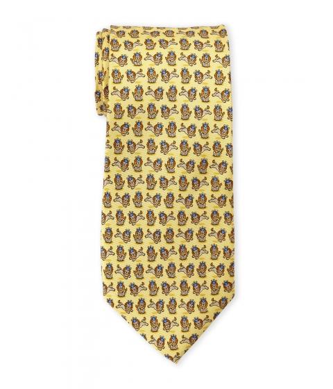 Accesorii Barbati Pierre Cardin Lion King Silk Tie Gold