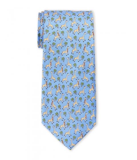 Accesorii Barbati Pierre Cardin Silk Giraffe Print Tie Blue
