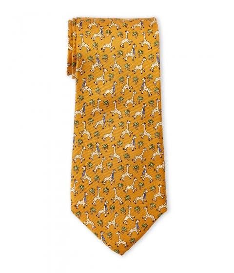 Accesorii Barbati Pierre Cardin Silk Giraffe Print Tie Orange