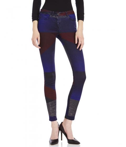 Imbracaminte Femei Maison Scotch Color Block Skinny Jeans Blue Maroon Multi