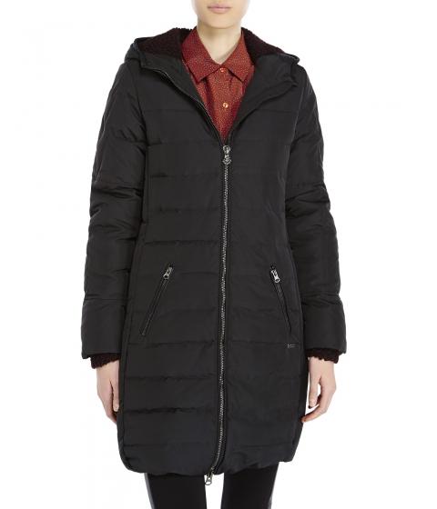 Imbracaminte Femei Maison Scotch Hooded Long Down Jacket Black