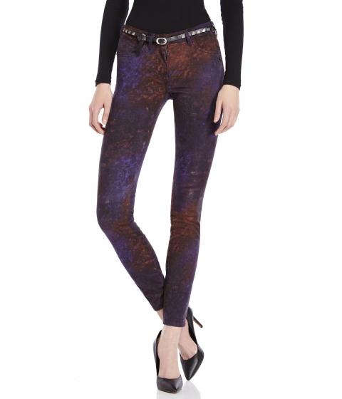 Imbracaminte Femei Maison Scotch Belted Skinny Jeans Purple Multicolor