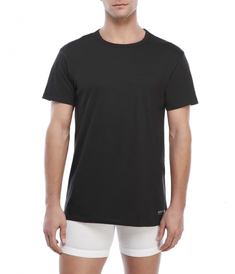 Imbracaminte Barbati Kenneth Cole Reaction 3-Pack White Crew Neck Tees Black