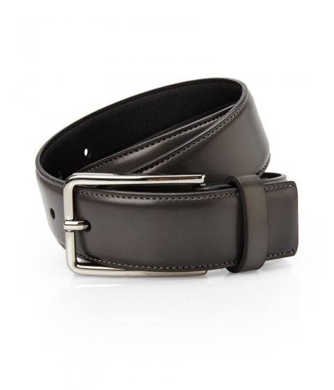 Accesorii Barbati Kenneth Cole New York Black Dark Grey Leather Belt Dark Grey