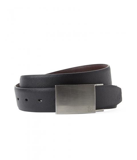 Accesorii Barbati English Laundry Reversible Bonded Leather Plaque Belt Black Brown