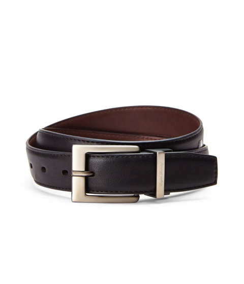 Accesorii Barbati English Laundry Reversible Smooth Bonded Leather Belt Black Brown