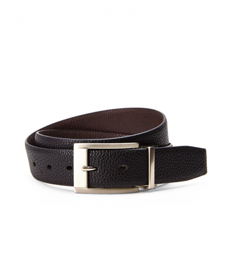 Accesorii Barbati English Laundry Reversible Pebbled Belt Black Brown